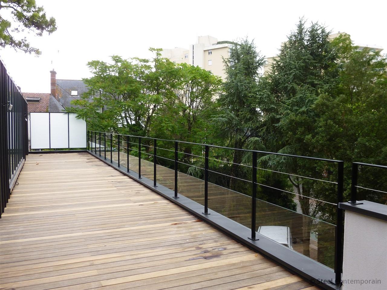 brise vue design en m tal la baule 2 steel contemporain. Black Bedroom Furniture Sets. Home Design Ideas