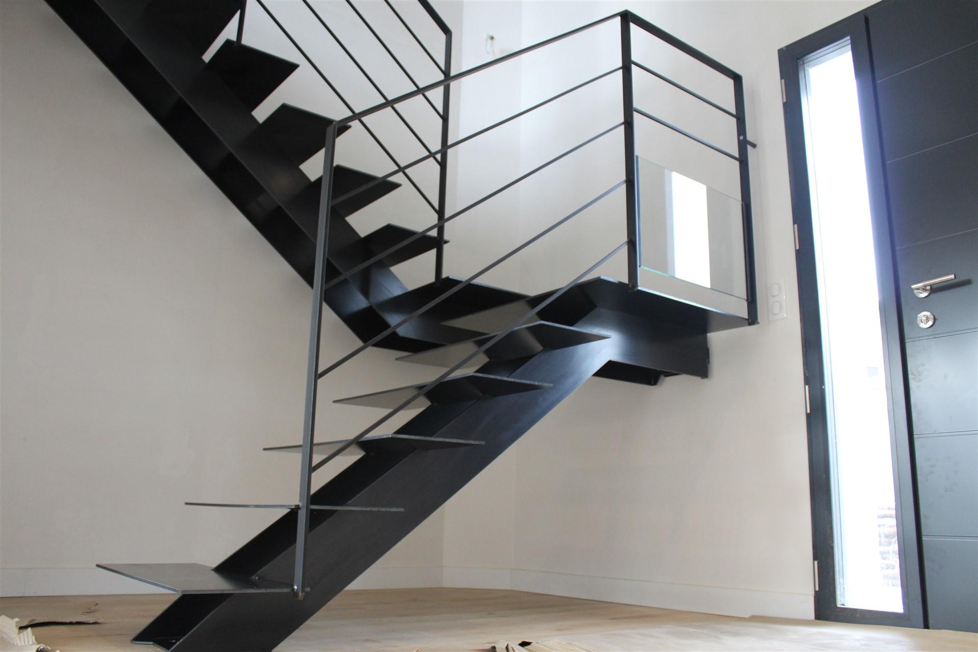 Escalier et garde-corps en acier La Baule