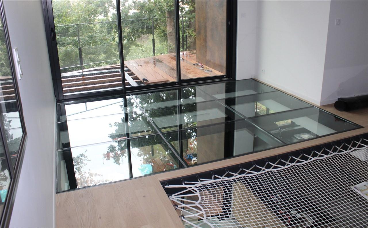Plancher verre design