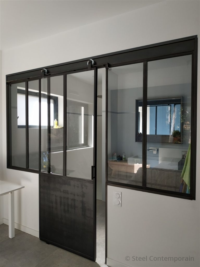 Verriere design métallique steel contemporain