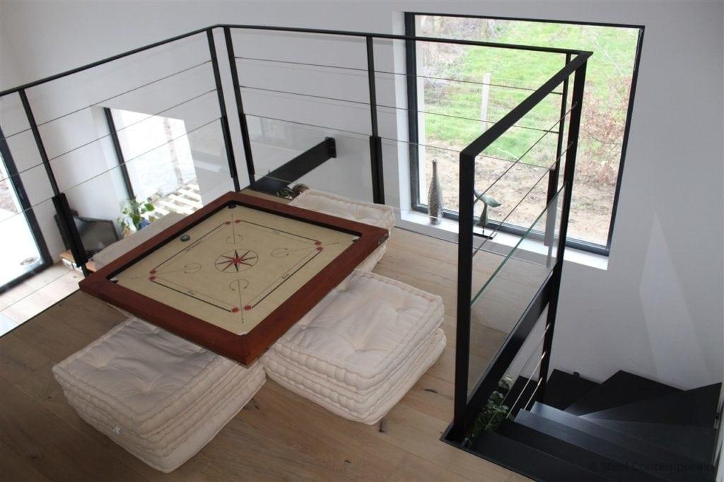 Escalier demi tournant design métallique 2019