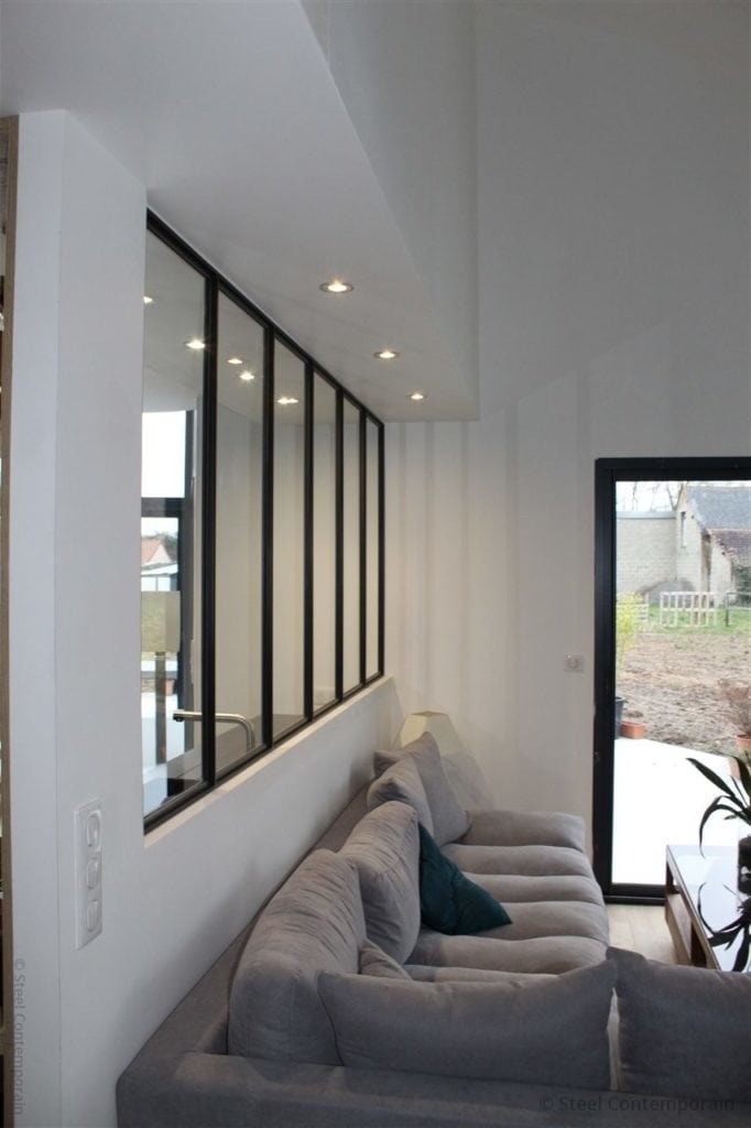 Verrière design métallique steel contemporain 2019