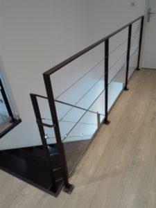 Escalier droit métallique design, Loire-Atlantique