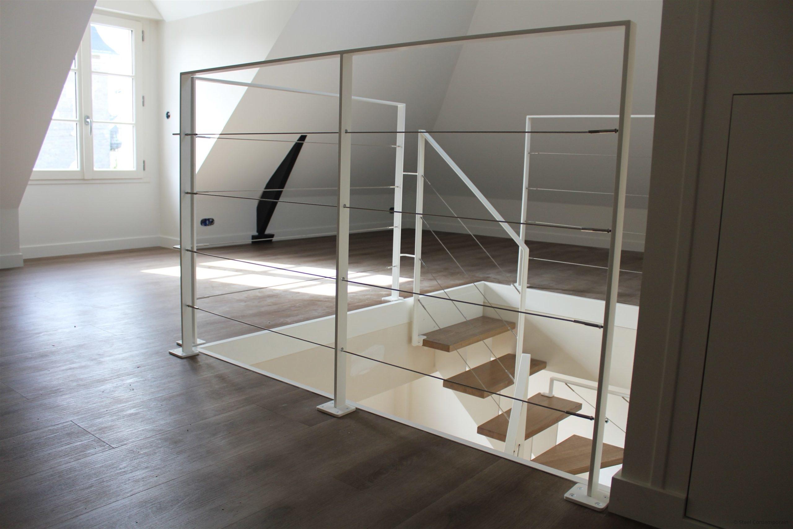 garde-corps rambarde acier blanc steel contemporain (4)